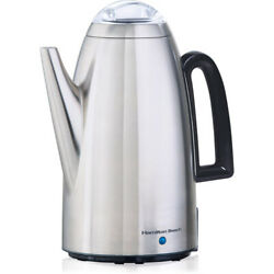 Coffee Percolator 12 Cup Stainless Steel Electric Maker Pot Vintage Look New