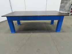 1 Thick Top Steel Fabrication Layout Welding Table Work Bench 97lx48wx32h