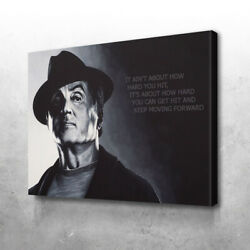 Rocky Knowledge Canvas Printed Framed Wall Art-various Sizes