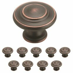 Amerock Inspirations - 10 Pack Of 1-5/16 Cabinet Pull Knob Oil Rubbed Bronze