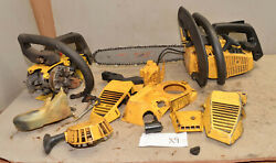 2 Mcculloch Power Mac 310 Chainsaw One Complete One Parts Collectible Saw Lot X9
