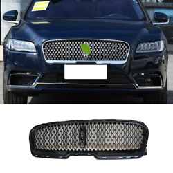 Gloss Black Front Center Mesh Grille Grill Cover For Lincoln Continental 2017-21