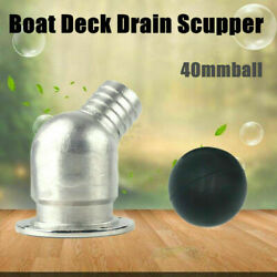 Boat Plumbing Fittings Boat Deck Drain Scupper 1-1/2 Hose Stainless Steel 316