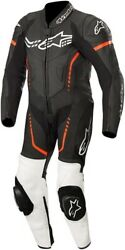 Alpinestars Youth Gp Plus Cup Leather Racing Suit Black/white/red All Sizes