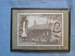 Jennie Wade, House And Monument, Gettysburg, Pa Photo Under Glass