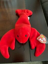 Ty Beanie Baby Pinchers The Lobster Style4026 Retired Tags 6-19-1993 Pvc Pellets