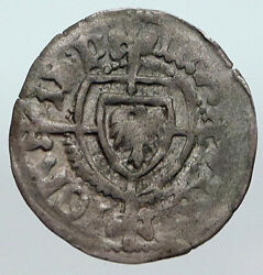 1477ad Medieval Germany Teutonic Knights Order Grand Master Silver Coin I90602