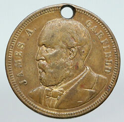 United States Usa President James A. Garfield Campaign Trade Token Medal I90605