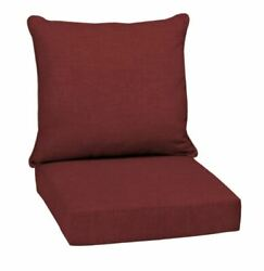Red Out Door Chair Deep Seat Back Cushion Pad Set Patio Furniture Cheap Durable