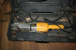 Dewalt Dw124 Right Angle Drill 300-1200 Rpm For Parts Or Repair With Case
