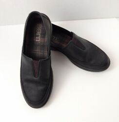 Born Lex Shoes 7.5 M Black Leather Slip On Loafers Cushioned Insole F49503
