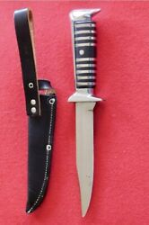 Vintage Fixed Blade Solingen Hunting Knife And Sheath In Perfect Condition. Ern.