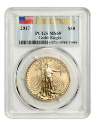 2017 Gold Eagle 50 Pcgs Ms69 First Strike - American Gold Eagle Age