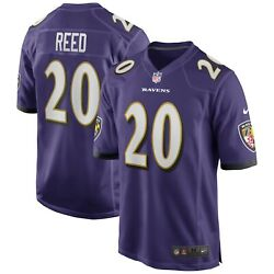 Baltimore Ravens Ed Reed 20 Nike Menand039s Official Nfl Game Retired Player Jersey