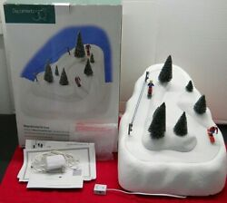 Department 56 Village Animated Ski Slope 52733 Christmas Winter Working In Box.