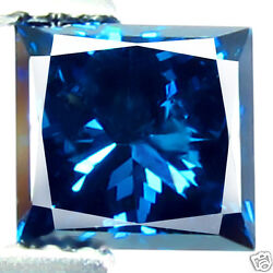 1.42ct Natural Bright Blue Diamond Princess Cut Sparkling Earth Mined Diamond