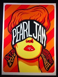 Pearl Jam October 20 2014 Milwaukee Wi Concert Poster By Ben Frost