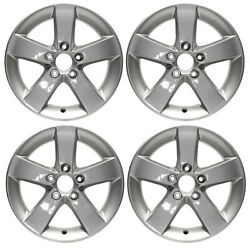 New Set Of 4 16 X 6.5 Silver Replacement Wheel Rim For 2006 - 2011 Honda Civic