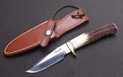 New Original 1994 Randall Model 8 Knife Small Camp Trail 4 Blade 5 Stag Handle