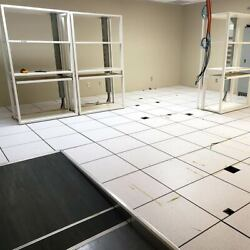2and039x2and039 Raised Access Flooring 119 Tiles 476 Square Feet With Supports And Ramp