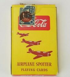 Vintage Coca Cola Wwll Era Military Airplane Spotter Playing Cards Operator 1