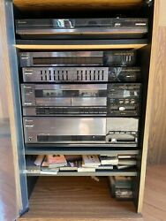 Rare Vintage Mitsubishi Stereo Rack System With 100 W Amp