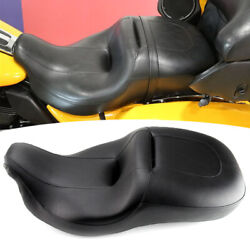 Black Driver Passenger Two-up Seat For Harley Electra Glide Ultra Classic 08-20