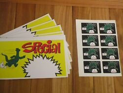 Vintage 1970's Sinclair Lot Of 10 Ad Signs + Stickers Racing Dino