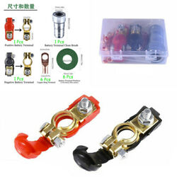 Copper Battery Terminal Connector Clamps Clean Brush Kit For Truck Car Van Boat