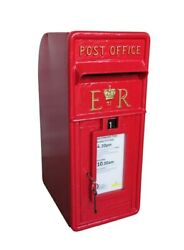 Original Reclaimed Cast Iron Post Office Er Ii Post Boxes - Antique - Red - Ukaa