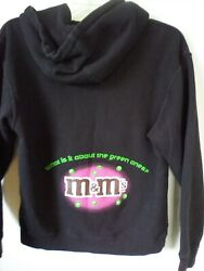 Vintage Mandms Hoodie Black I Melt For No One What Is It Green Mandms Size Medium