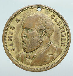 United States Usa President James G. Garfield Campaign Trade Token Medal I90723