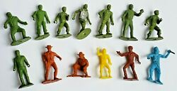Vintage Lot Of 60s Toys Army Men, Ring Hand, Indian, Pirate, Cowboys Mpc