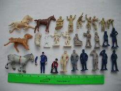 Lot Of 28 Assorted Figures People, Beton, Children Horse, G O-27 Gauge O Scale