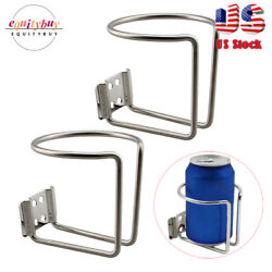 2pcs Boat Cup Holder Stainless Drink Ring Marine Yacht Bottle Universal Truck Rv