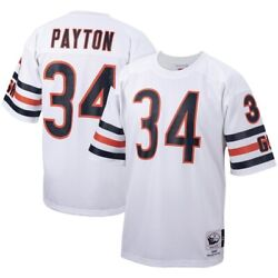 Chicago Bears Walton Payton 34 Mitchell And Ness White Nfl 1985 Authentic Jersey