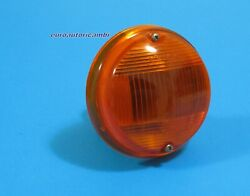 Fiat 124 Ac Sports Coupe Front Blinker Turn Lamp Amber Complete New Rare
