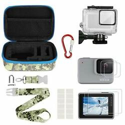 Kitspeed Accessories Kit For Gopro Hero 7 White/silver Including Waterproof Case