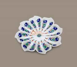 Handmade Natural Marble Flower Fruit Bowl Luxurious Marble Home Decoration Gifts