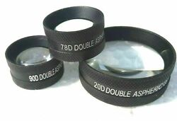Free Shipping Non Contact Aspheric Lens 20d 90d And 78d Best Price Lens Pack