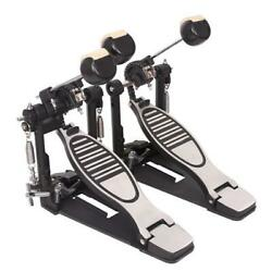 Double Bass Drum Pedal Twin Kick Drum Pedal Dual Chain Percussion Adjustable