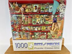 New Sealed Jigsaw Puzzle Kitchen Shelf 1000 Pieces Spice Tins Pasta Flowers