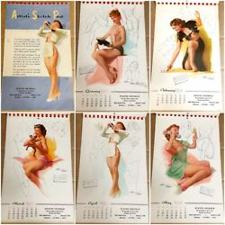 5 Pinup Calendars 1950s 1960's Ted Withers Hollywood Diane Webber More