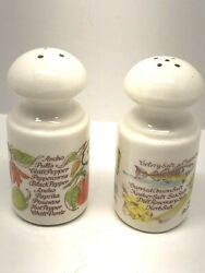 Avon 1980's Salt And Pepper Shaker Herbs And Spices Fruit And Vegetable