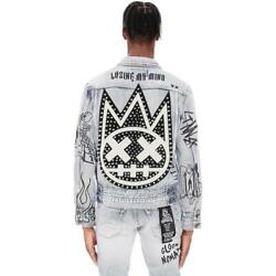 Cult Of Individuality Men Denim Jacket With Double Cuff And Waistband