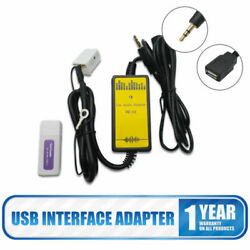 12 Pin Car Adapter Mp3 Cd Charger Aux Connector Input Usb Interface For Vw Skoda