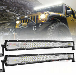 540w 32inch Led Light Bar Spot Flood Combo For Jeep Tractor Atv 4wd Offroad 30''