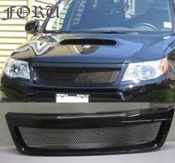 For Subaru Forester 2009-13 Carbon Fiber Refit Front Center Racing Grille Cover