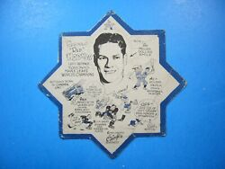 1932/33 Oand039keefeand039s Nhl Hockey Coaster Blotter 2 Red Horner Toronto Maple Leafs