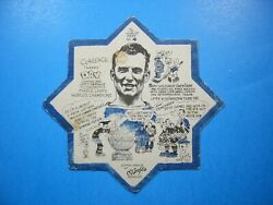 1932/33 Oand039keefeand039s Hockey Coaster Blotter 4 Clarence Hap Day Toronto Maple Leafs